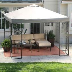 10-ft x 10-ft Backyard Patio Garden Outdoor Gazebo with Stee