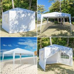 10'x 10' Easy Pop Up Gazebo Canopy Party Tent with Sidewalls