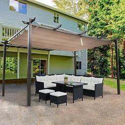 Outsunny 10' x 13' Outdoor Pergola Gazebo Canopy Cover Backy