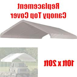 10 x 20 feet Roof Top Cover White Tarp for Replacement Outdo