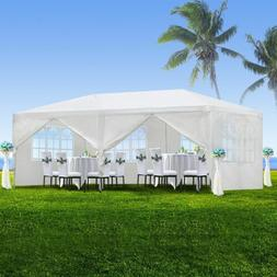 10'x20' White Outdoor Gazebo Canopy Wedding Party Tent 6 Rem