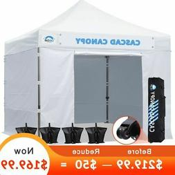 CASCAD CANOPY 10' x10' Ez Pop Up Canopy Tent with DIY Banner