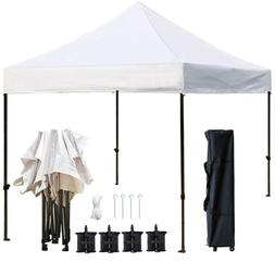 10'x10' Ez Pop Up Canopy Tent, Tents with Heavy Duty Roller