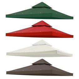 10'x10' Gazebo Canopy Top Replacement 2 Tier Patio UV30 Pavi