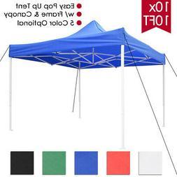 10x10 ft Pop Up Canopy Tent Patio Outdoor Instant Gazebo Fol