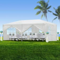 10'x20' White Outdoor Gazebo Canopy for Parties and Backyard