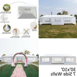 10'x30' Gazebo Canopy Party Tent Wedding Outdoor Pavilion Ca