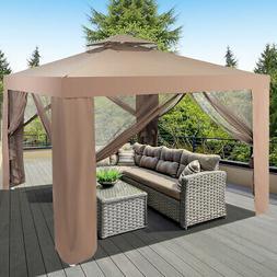 10'x 10' Canopy Gazebo Tent Shelter Garden Lawn Patio W/