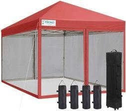 Quictent Pop Up Canopy 10x10/8x8 Wedding Party Tent Outdoor