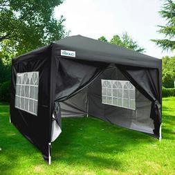 Quictent 10x10 EZ Pop Up Canopy Instant Party Tent Gazebo Bl