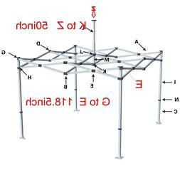 10x10 Ez Pop Up Canopy Tent Frame With Storage Bag,Stakes &