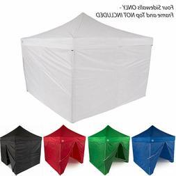 10x10 EZ Pop Up Canopy Tent Sidewalls Kit 4 WALLS ONLY Gazeb