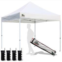 10x10 White Commercial Ez Pop Up Canopy Outdoor Folding Gaze