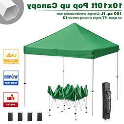 10x10ft Pop Up Canopy Tent Instant Folding Commercial Gazebo