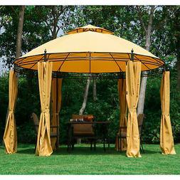11.5' Round Dome Patio Gazebo Outdoor Sun Shelter Canopy Ten