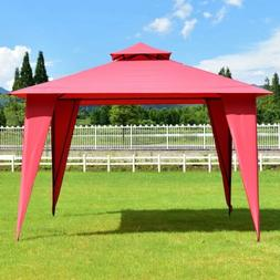 11' x 11' Patio Party Canopy Tent with Slant Legs Outdoor Sh