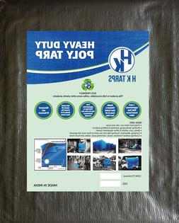 12 Mil Heavy Duty Poly Tarp 200 GSM All Purpose Canopy Reinf