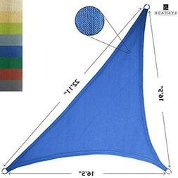 LyShade 12' x 12' x 17' Right Triangle Sun Shade Sail Canopy