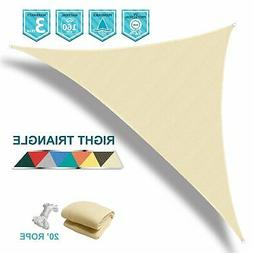 Coarbor 12'x12'x17' Right Triangle Beige UV Block Sun Shade