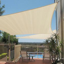 12x12x12 Beige Triangle Sun Shade Sail Fabric Canopy Patio C