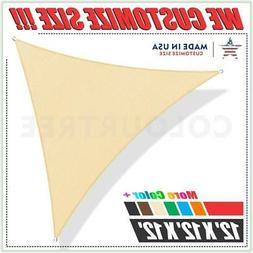 ColourTree 16' x 16' x 16' Sun Shade Sail Triangle Canopy Be