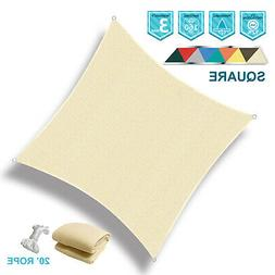 160 gsm square sun shade sail outdoor