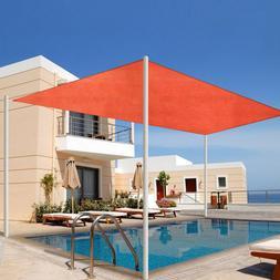 16FT Outdoor Sun Shade Sail Patio Garden Deck Pool Canopy UV