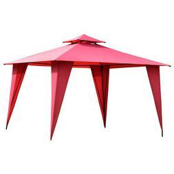 2-Tier 11'x11' Gazebo Canopy Shelter Patio Party Tent Ou