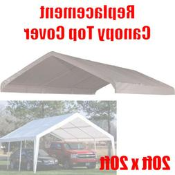 20 x 20 feet Roof Top Cover White Tarp for Replacement Outdo