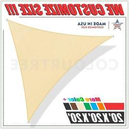 ColourTree 20' x 20' x 20' Sun Shade Sail Triangle Canopy Be