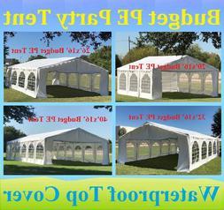 20'x16', 26'x16', 32'x16', 40'x16' Budget PE Party Wedding T