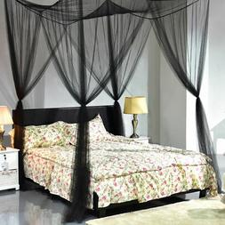 4 Corner Post Bed Canopy Mosquito Net Full Queen King Size N