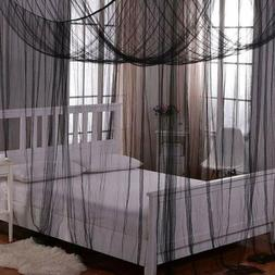 Twinkle Star 4 Corner Post Bed Canopy for Full/Queen/King Si