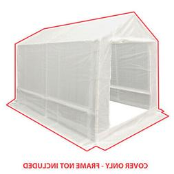 7 ft x 12 ft Opaque White Green Greenhouse