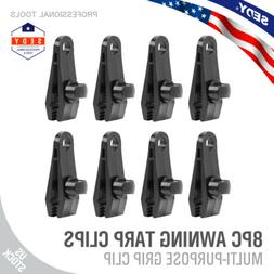 8PC Heavy Duty Tarp Clips Clamps Great for Camping Canopies