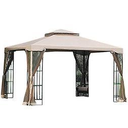 Garden Winds Replacement Canopy for Summer Veranda Gazebo RipLock 350 Beige