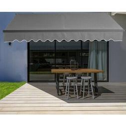 ALEKO Black Frame Retractable Home Patio Canopy Awning 13 x