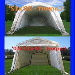 Carport - 20'x12, 24'x13' Garage Storage Canopy Shelter Shed