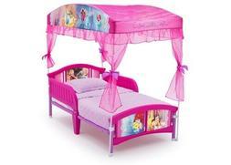 Delta Children Disney Princess Plastic Toddler Canopy Bed Pi