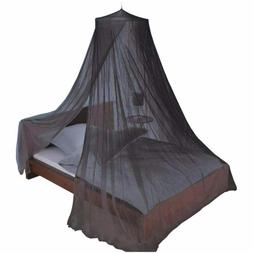 Just Relax Elegant Mosquito Net Bed Canopy Set, Black, Twin-