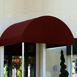 Awntech Entrance Canopy, 6' W x 18' D x 8' H, Burgundy