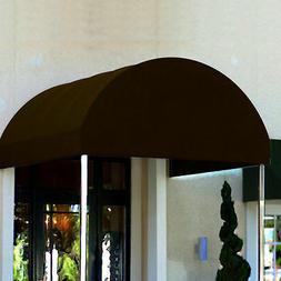 Awntech Entrance Canopy Brown 6'W x 10'D x 8'H