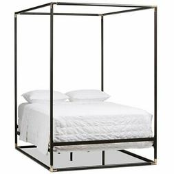 Baxton Studio Eva Queen Metal Canopy Bed in Black