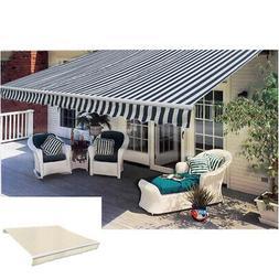 Folding Awning Outdoor 10' Sunshade Garden Canopy Sun Shade