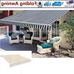 Folding Awning Outdoor Sunshade Garden Canopy Patio Window D