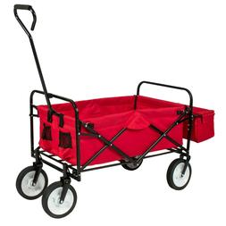 Best Choice Products Folding Utility Cargo Wagon Cart w/ Rem