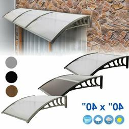 front door window awning patio uv protected