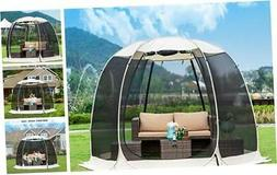 Gazebos for Patios Screen House Room 4-6 Person Canopy Mosqu