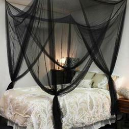 New 4 Corner Post Bed Canopy Mosquito Net Full Queen King Si