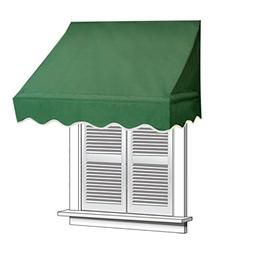 ALEKO 4x2 Green Window Awning Door Canopy 4-Foot Decorator A